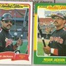 REGGIE JACKSON 1985 + 1986 Fleer LE Odds.  ANGELS