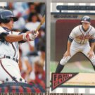 CHIPPER JONES 1997 Donruss Fan Club + 1998.  BRAVES