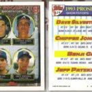 CHIPPER JONES (2) 1993 Topps Prospects #529.  BRAVES