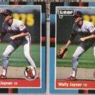 WALLY JOYNER 1988 Donruss + 1988 Leaf.   ANGELS