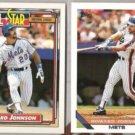 HOWARD JOHNSON 1992 Topps AS #388 + 1993 Topps #106.