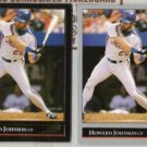 HOWARD JOHNSON 1992 Leaf Black GOLD Insert w/ sister.