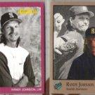 RANDY JOHNSON 1991 #116 + 1992 Studio #234.  MARINERS