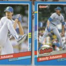 RANDY JOHNSON 1991 Donruss #134 + Highlight #BC-2.  MARINERS
