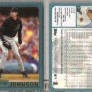 RANDY JOHNSON (2) 2001 Topps #75.  DIAMONDBACKS