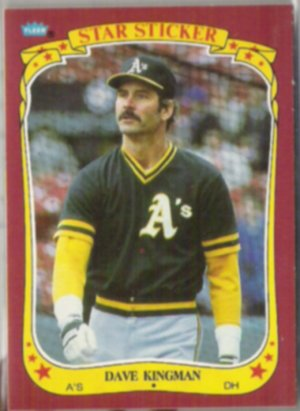 DAVE KINGMAN 1986 Fleer Star Sticker #67.  A's