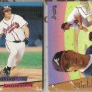 RYAN KLESKO (2) 1993 Fleer Ultra Rookie #7.  BRAVES