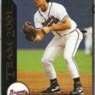 RYAN KLESKO 1993 Pinnacle Team 2001 Insert #27 of 30.  BRAVES