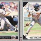 CHUCK KNOBLAUCH 1991 + 1992 Leaf.  TWINS