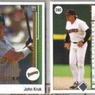 JOHN KRUK (2) 1989 Upper Deck #280.  PADRES