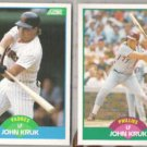 JOHN KRUK 1989 Score + Traded.  PADRES / PHILLIES