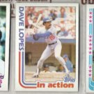 DAVE LOPES (3) 1982 Topps #740, 741 + 338.  DODGERS