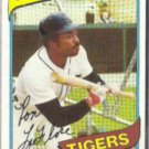 RON LeFLORE 1980 Topps #80.  TIGERS