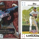 FRANCISCO LIRIANO 2007 Fleer Rookie Sensation Ins. + Topps