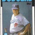 TOM LaSORDA 1986 Topps #291.  DODGERS