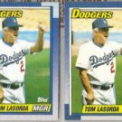TOM LaSORDA (2) 1990 Topps.  DODGERS