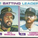 CARNEY LANSFORD 1982 Topps #161 w/ B. Madlock.  RED SOX
