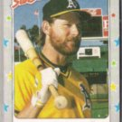 CARNEY LANSFORD 1988 Fleer Star Stickers #55.  A's