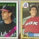 STEVE LYONS 1987 + 1988 Topps.  WHITE SOX