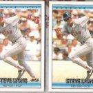STEVE LYONS (2) 1992 Donruss #758.  WHITE SOX
