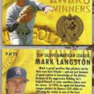 MARK LANGSTON (2) 1994 Ultra Top Glove Inserts #9 of 25.  ANGELS