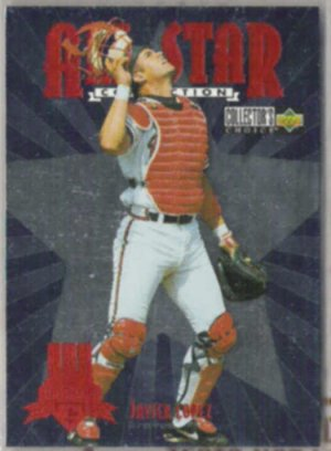 JAVIER LOPEZ 1997 UD CC All Star Insert #44 of 45.  BRAVES