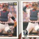 JAVIER LOPEZ 1994 UD CC Silver Sig. Insert w/ sister.  BRAVES