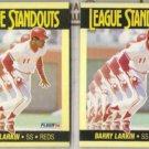 BARRY LARKIN (2) 1990 Fleer Standouts #1.  REDS