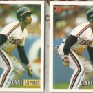 KEN LOFTON (2) 1993 Bowman #417.  INDIANS
