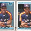 KEN LOFTON (2) 1992 Donruss Rated Rookie #5.  ASTROS