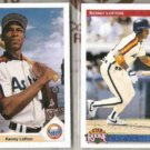 KEN LOFTON 1991 UD Final + 1992 UD Star Rookie.  ASTROS