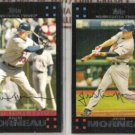 JUSTIN MORNEAU (2) 2007 Topps #323 + #430.  TWINS