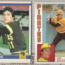 LEE MAZZILLI 1984 Fleer + 1984 Topps.  PIRATES