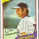 DON MONEY 1980 Topps #595.  BREWERS