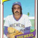 BUCK MARTINEZ 1980 Topps #477.  BREWERS