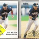 PAUL MOLITOR 1998 Fleer Vintage 63 + Tradition.  TWINS