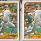 PAUL MOLITOR (2) 1989 Topps #110.  BREWERS