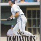 PAUL MOLITOR 1994 Donruss Dominators Insert #3 of 10.  BREWERS