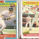 DON MATTINGLY 1987 + 1988 Fleer Best.  YANKEES