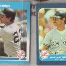 DON MATTINGLY 1986 + 1987 Fleer minis.  YANKEES
