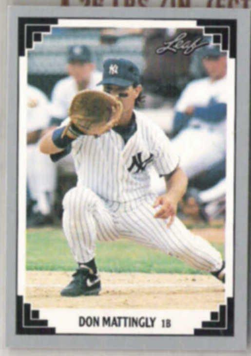 Don Mattingly 1991 Leaf 425 Yankees