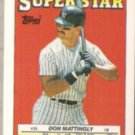 DON MATTINGLY 1988 Topps Super Star Sticker #35.  YANKEES