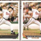 MIKE MUSSINA 1993 Topps GOLD Insert w/ sister.  ORIOLES