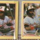 EDDIE MURRAY (2) 1984 Fleer mini Stickers #38 + #23.  ORIOLES