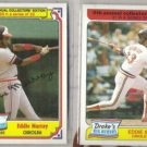 EDDIE MURRAY (2) Topps Drakes 1984 #23 + 1985 #21.  ORIOLES