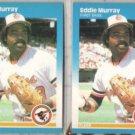 EDDIE MURRAY (2) 1987 Fleer #476.  ORIOLES