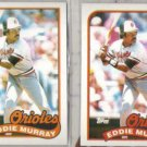 EDDIE MURRAY (2) 1989 Topps #625.  ORIOLES