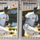 EDDIE MURRAY (2) 1989 Fleer #611.  ORIOLES