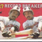 EDDIE MURRAY 1988 Topps Record Breakers #4.  ORIOLES