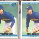 TINO MARTINEZ (2) 1992 Donruss Rated Rookie #410.  MARINERS